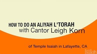 How Do You Jew? How to Do An Aliyah L
