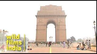 India Gate, a National Monument in olden days Delhi