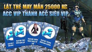 Free Fire   Lật Bài May Mắn Trúng 25000 Kim Cương Biến Acc VIP Thành Acc Siêu VIP   Rikaki Gaming