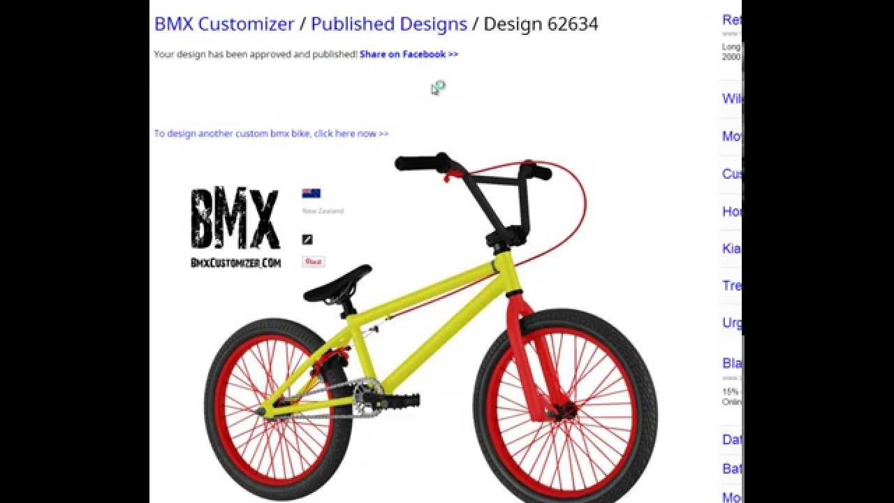 best bmx customizer how to customize your own bmx bike youtube