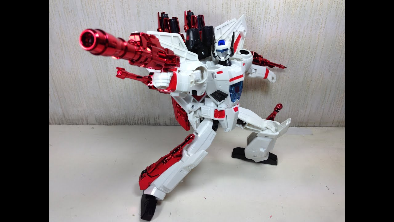 Jetfire Leader Class Transformers Generations Toy Review Youtube
