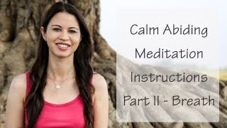 Breathing Meditation for Beginners - Calm Abiding Meditation Instructions