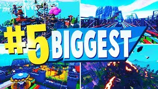 WORLDS BIGGEST Creative Maps In Fortnite (WITH CODES)
