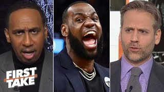 First Take debates whether LeBron is injured or just load managing