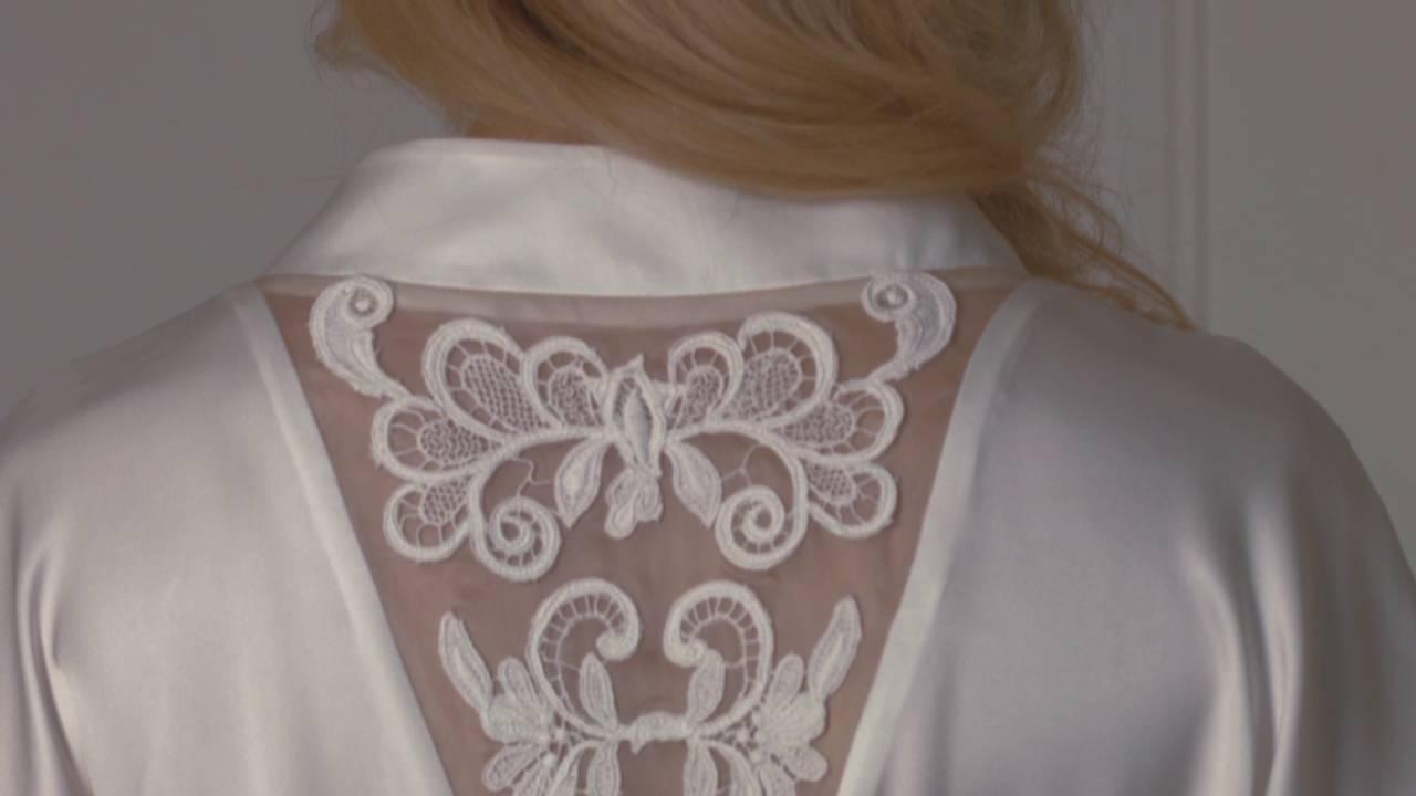Женские халаты из натурального шелка, италия. Длинный халат