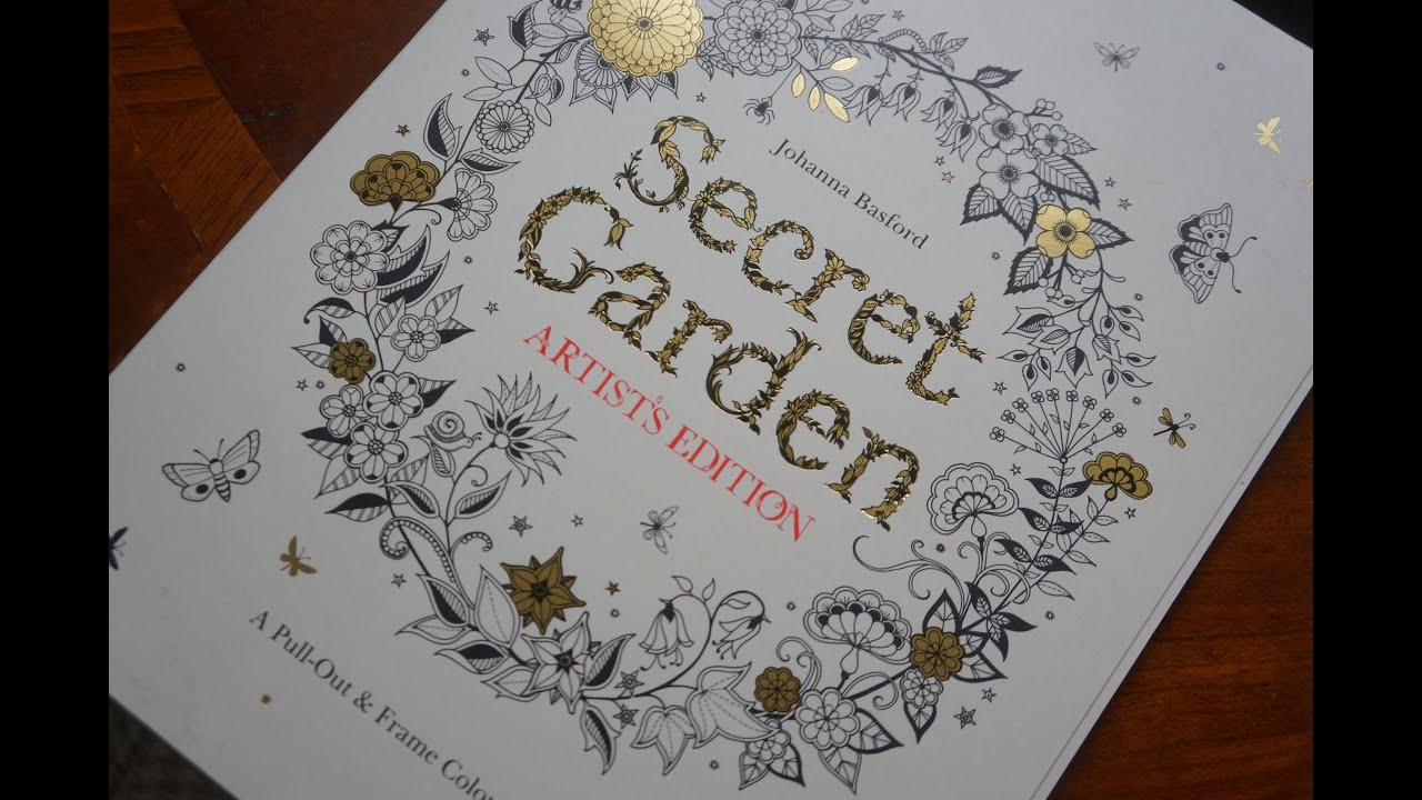Johanna Basford Secret Garden Artists Edition A Pull Out And Frame Colouring Book