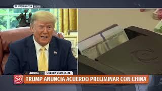 Trump afirma que acuerdo preliminar con China se firmaría en Chile