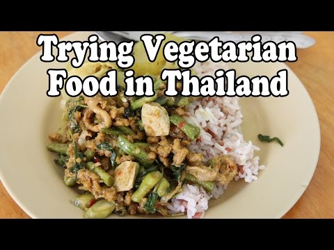 Vegetarian Food in Thailand. Eating Thai Food at a Vegan Restaurant in Thailand Vlog