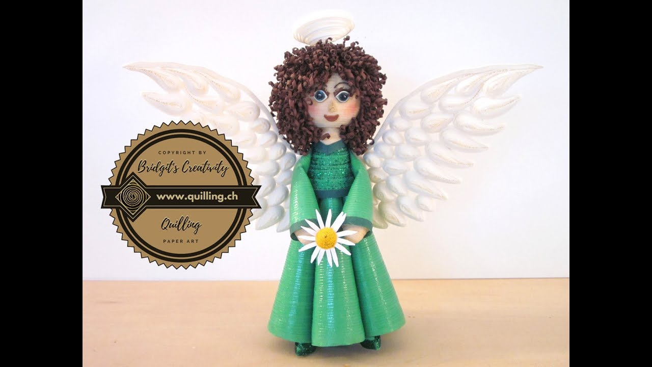 Bridgits Quilling Doll To A Angel Part 2 Tutorial YouTube