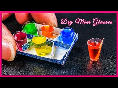 How to Make DIY Miniature Mini Cups with Soda & Fruit Juice Soft Drink Coca Cola Pesi Mountain Dew