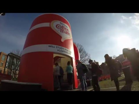 Building Coffee-mate's Sampling Booth at OSU