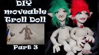 How to Make a Fabric Doll - Troll Doll DIY Tutorial - Toes Part 3- Sewing Projects and Ideas