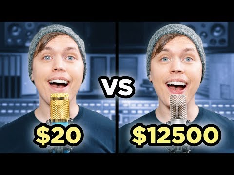 $20 Microphone Vs. $12500 Microphone