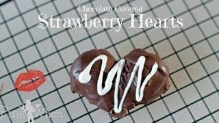 DIY Chocolate Covered Strawberry Hearts Thumbnail
