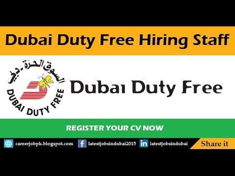 How To Find Jobs in Dubai Duty Free