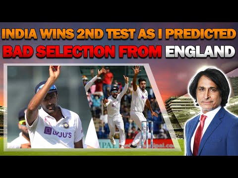 India Wins 2nd Test as I Predicted | Bad selection from England | Ramiz Speaks