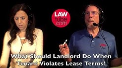 What to do when tenant does not comply with lease terms