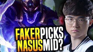 FAKER Goes CRAZY and Picks NASUS MID! - SKT T1 Faker SoloQ Playing Nasus Midlane!   SKT T1 Replays thumbnail
