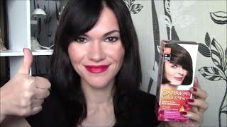 Обзор на краску для волос Garnier Color and Shine оттенок 4.0 Каштановый