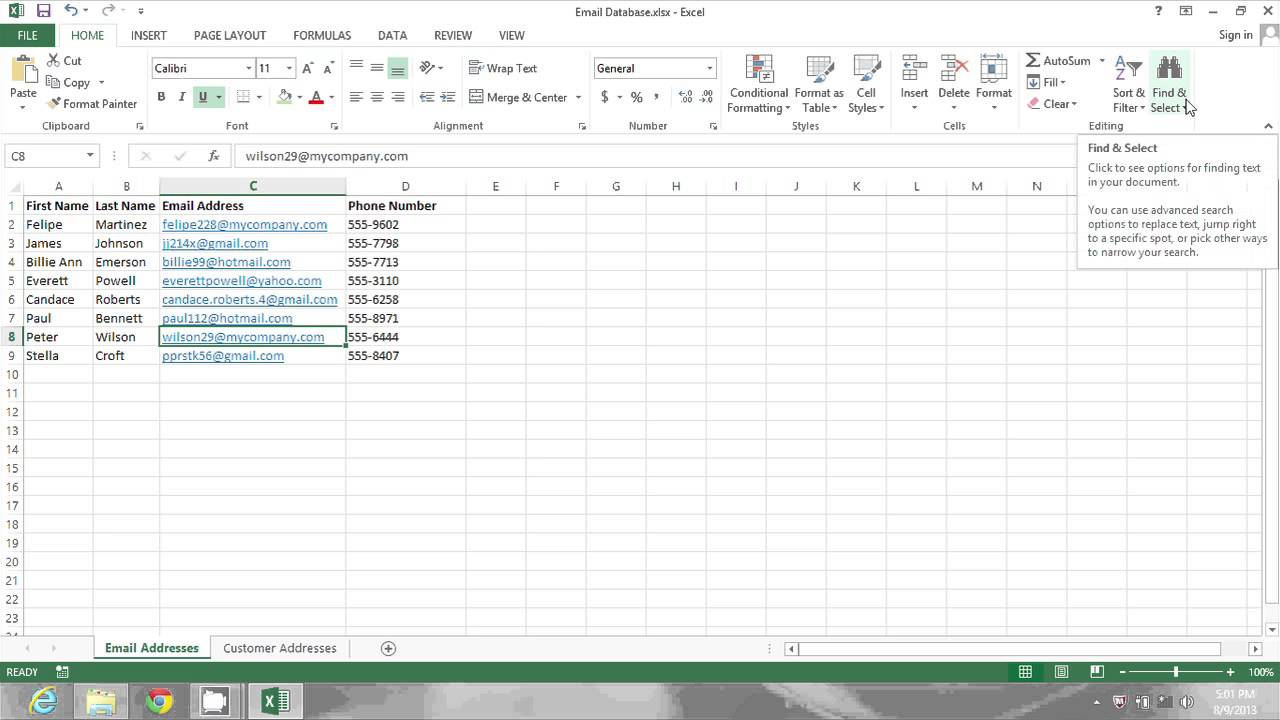 How to Find & Replace Text Parts in MS Excel : MIcrosoft ...