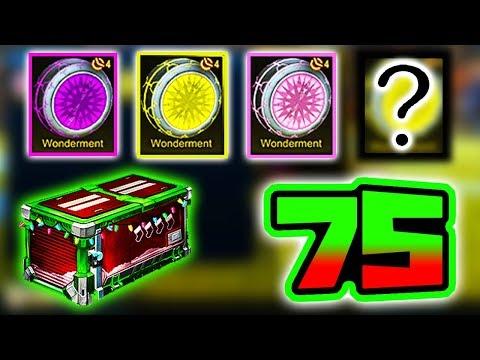 """4 PAINTED WONDERMENTS   75 """"Secret Santa"""" Crate Opening!! ( Rocket League Frosty Fest Event )"""