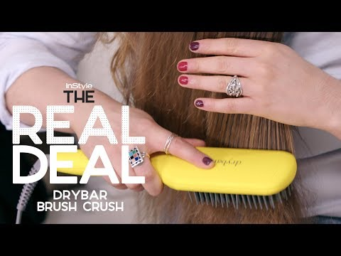 How Well Does the $145 Drybar Brush Crush Work On Curly Hair? | The Real Deal | InStyle