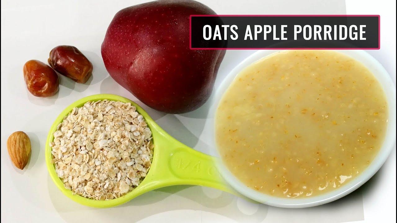 Baby Food || Oats Apple Porridge || Healthy & tasty food for 8 to 12 months kids