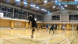 【男女混合バレーボール】SPECIAL練習試合#3-2 EVA25点ゲーム[Commentary]解説 Men and Women Mixed Volleyball JAPAN TOKYO