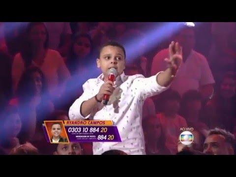 "Ryandro Campos canta ""Seduzir"" no The Voice Kids - Shows ao Vivo|Temp 1"