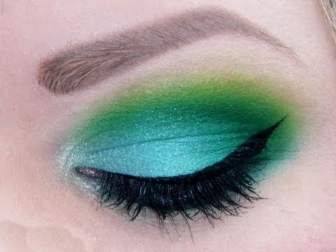 120 Manly Palette green and blue eyeshadow tutorial makeup