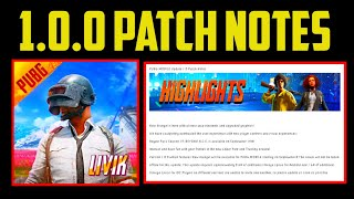 FINALLY PUBG MOBILE 1.0.0 PATCH HERE | PUBG MOBILE 1.0.0 UPDATE DATE AND SIZE