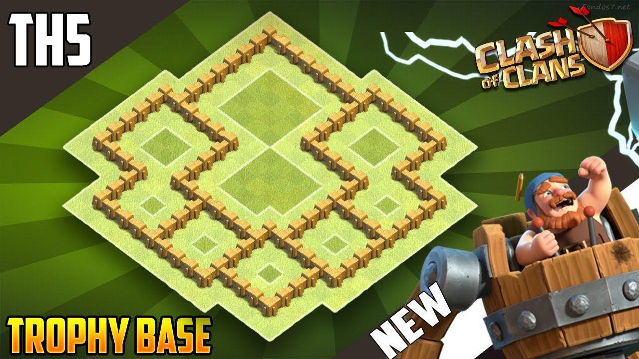 Best Base Th5 Hybrid Trophy Defense 2018 Town Hall 5 Design Clash Of Clans
