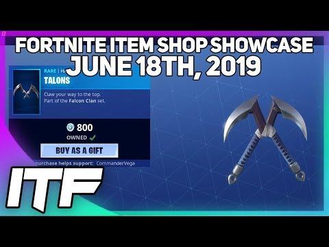 Fortnite Item Shop *NEW* TALONS HARVESTING TOOL! [June 18th, 2019] (Fortnite Battle Royale)