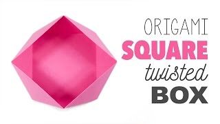 Origami Square 'Twisted' Box ♥︎ Tutorial ♥︎ DIY ♥︎