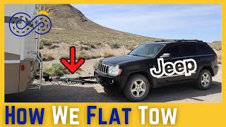Flat Towing a Vehicle Behind an RV - QUICK & EASY SETUP [Full Time RV Living]