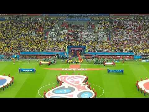 Colombia Vs Polonia - Himno Nacional De Colombia - Copa Mundial Rusia 2018