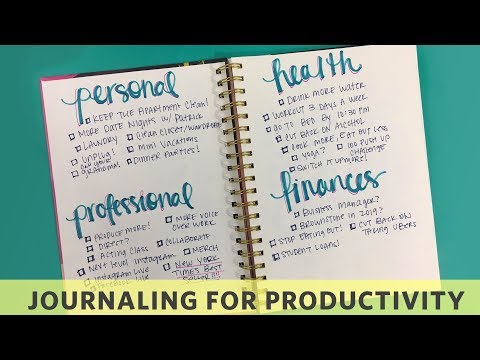 How To Journal Your Productive Year | Chescaleigh #WTEQ thumbnail