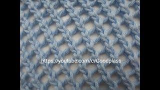 Узор Сетка вязаная спицами. Knitting