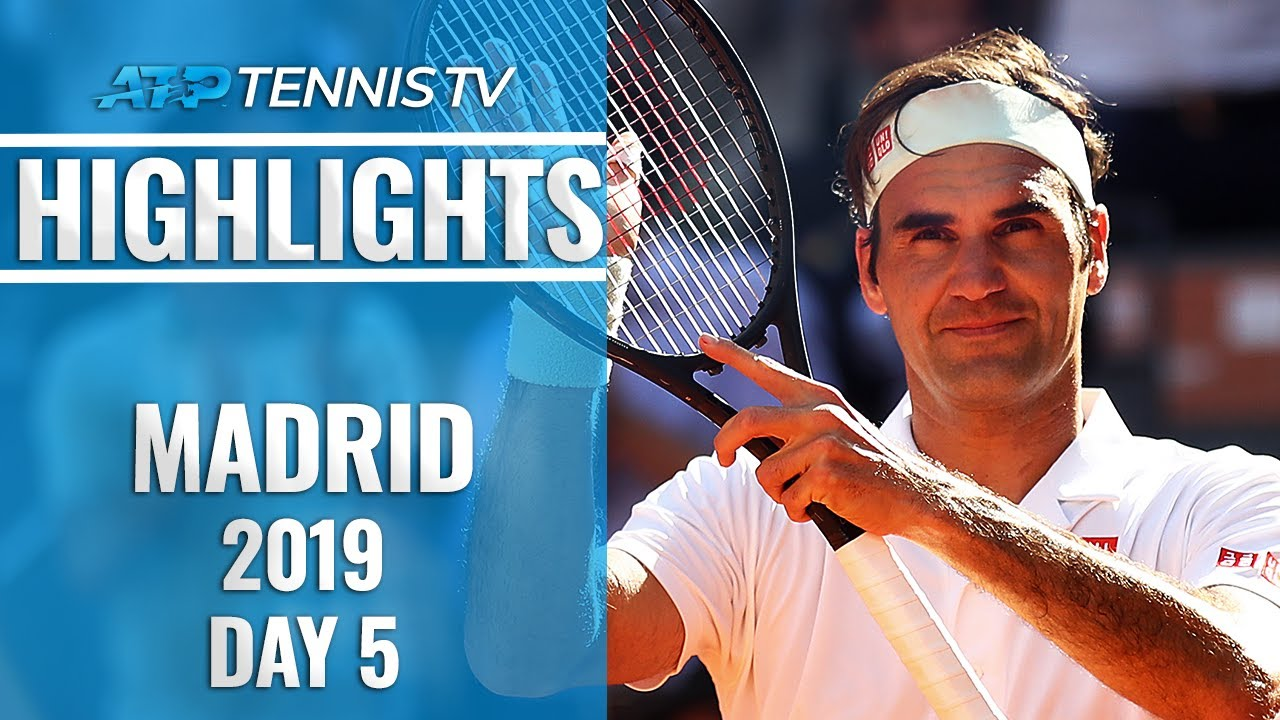 Federer Wins 1200th Match; Nadal, Djokovic And Thiem Go Through | Madrid Open 2019 Highlights Day 5
