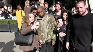 Kanye West Lunch at L avenue Restaurant in Paris