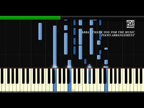 ABBA - THANK YOU FOR THE MUSIC - SYNTHESIA (PIANO COVER)