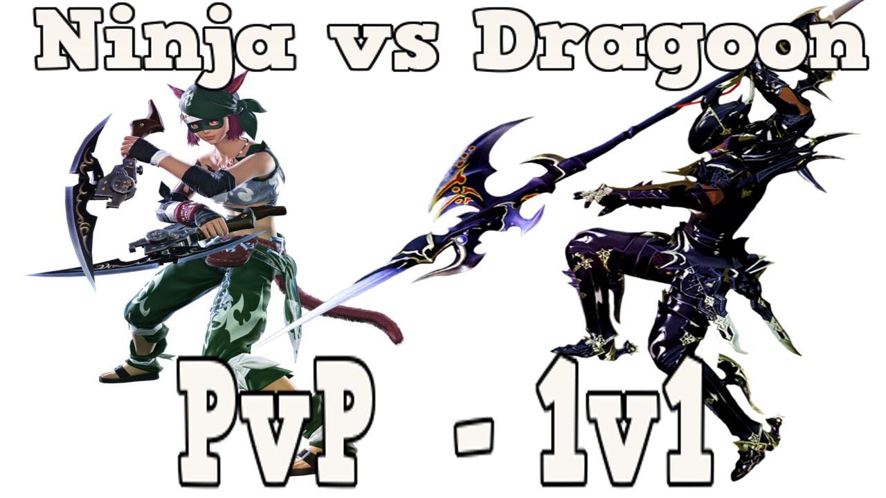 ffxiv ninja vs dragoon pvp youtube