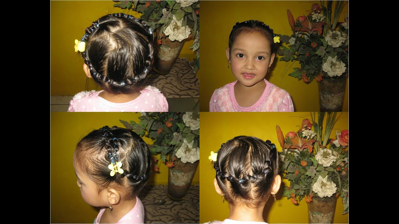 Cara Mengikat Rambut Anak Model Lingkaran Kupu Kupu Youtube