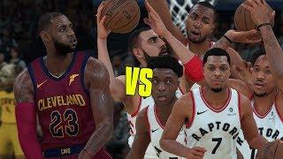 LeBron James Vs The Entire Toronto Raptors Team!   NBA 2K18 Challenge  