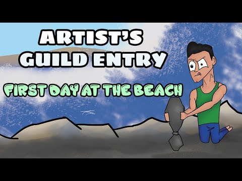 First Day At The Beach- Artist's Guild Collab || I'M PART OF A GROUP OF ARTISTS!
