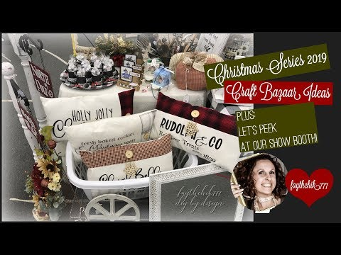Christmas Series 2019 | Christmas Craft Bazaar Ideas | Christmas Craft Bazaar Booth Setup