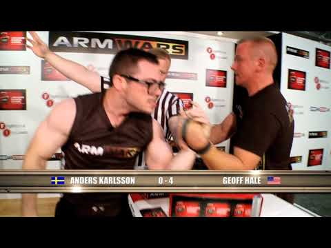 Arm Wars | Armwrestling | Geoff Hale USA v Anders Karlsson SWE