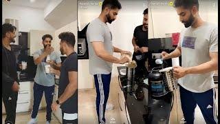 Parmish Verma Making Protein Shake With Desi Crew