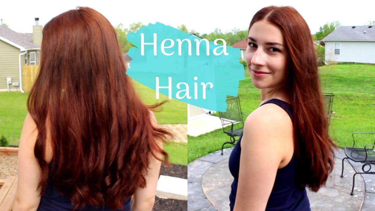 How I Naturally Color My Hair with Henna  Red Henna on Long Medium/Dark  Brown Hair