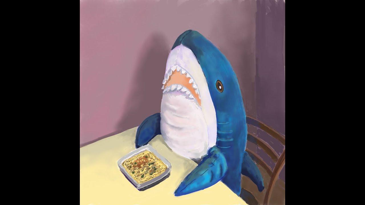 Акула из ИКЕИ рисунок диджитал в Paint3D. Speedpaint ...